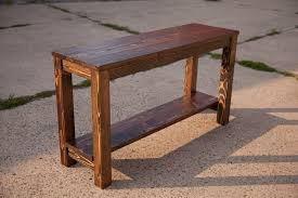 sofa table gorgeous rustic sofa tables with narrow sofa table etsy