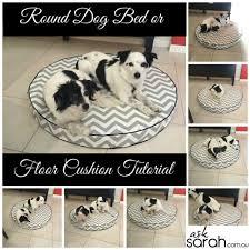 sew round dog bed or floor cushion tutorial foam filled w side