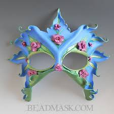 bead mask of the roses leather mask beadmask