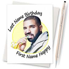 Drake Birthday Meme - drake birthday card funny birthday card from inlivingcolorstudi