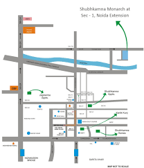 Noida Metro Route Map by Overview Shubhkamna Monarch At Noida Extension Shubhkamna