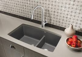 blanco metallic gray sink kitchen sinks schoenwalder plumbing