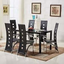 Glass Table And Chairs For Kitchen by Glass Dining Table And Chairs Ebay
