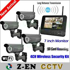 new 7 lcd monitor wireless home surveillance system sd