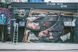 graffiti artist will vibes creates a shoreditch mural for dr graffiti artist will vibes creates a shoreditch mural for dr martens huh