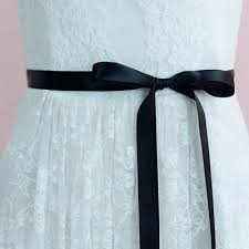 black ribbon belt sophisticated rhinestones bridal sash ribbon belt lunss couture