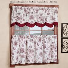 winston jacobean floral tier window treatment