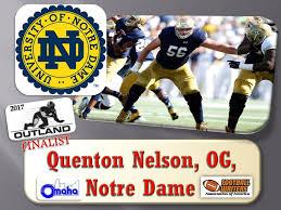 Quenton Nelson Bench Press Outland Award Winner Outland Trophy Award