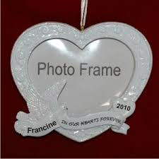personalized remembrance ornaments memorial photo frame personalized christmas ornaments by