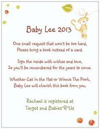 Books Instead Of Cards For Baby Shower Poem Book Instead Of Card Poem That Will Be Used With The Invites To