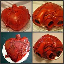 Gross Halloween Cakes by Human Heart On Cake Central Cake Decorating Tutorials And