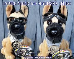 belgian shepherd stuffed animal plush belgian malinois mwd police dog with doogles badge camo vest