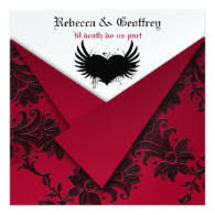 Red And Black Wedding Invitations Medieval And Gothic Theme Wedding Invitations Unique And Special