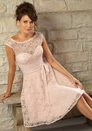 romantic knee length lace morilee bridesmaid dress with matching