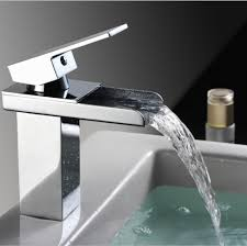 waterfall faucet for bathroom sink sink faucet bathroom waterfall faucet brass made chrome surface