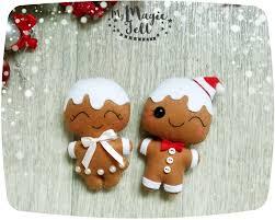 christmas ornaments felt gingerbread man ornaments felt christmas
