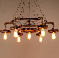 Vintage Wrought Iron Chandeliers Vintage Wrought Iron Chandelier Creative Industrial Candelabro