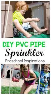 diy pvc pipe sprinkler and waterslide preschool inspirations