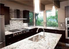 Espresso Cabinet Delicatus White Countertop Marble Backsplash - Espresso cabinets kitchen