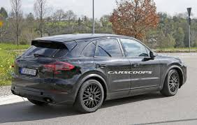 Black Porsche Cayenne - scoop porsche says nein to buttons for 2018 cayenne u0027s cabin