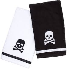 amazon com sourpuss skull hand towel set home u0026 kitchen