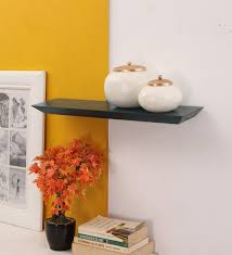 wall shelves pepperfry buy natalia wall shelf in blue by casacraft online contemporary