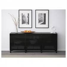besta nightstand besta storage combination with doors black brownselsviken high