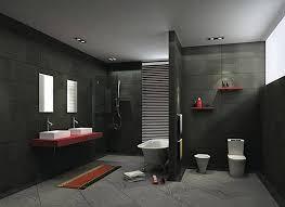 Gray And Red Bathroom Ideas - bathroom ideas grey interior design