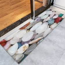 Pebble Stone Rug Pebble Stone Pattern Water Absorption Floor Rug In Colormix W24
