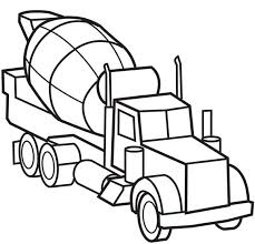 picture of cement truck semi truck coloring page download