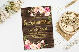 Graduation Party Invitation Card Boho Graduation Party Invitationcollege Graduation