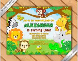 jungle birthday invitation safari invitation zoo invitation