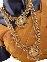bridal set for rent wedding jewellery set with ashta lakshmi design heavy bridal sets