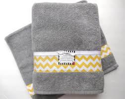 Gray Yellow Bathroom - yellow grey gray bathroom towels hand towels towel yellow