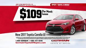 toyota motor credit number lease a 2017 corolla 1 for everyone sales event at germain toyota