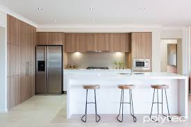 polytec melamine cafe oak matt modern kitchen design pinterest