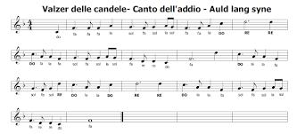 walzer delle candele spartiti di canzoni