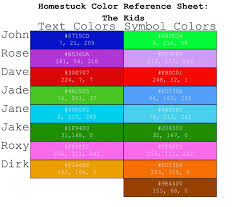 homestuck color ref kids by graphicalcatharsis on deviantart