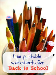 printable worksheets for back to