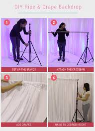 wedding backdrop setup 8 gorgeous pipe drape wedding backdrops bridalpulse