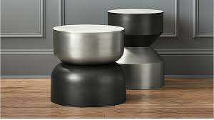 Drum Side Table Silo Metal Drum Side Table Cb2
