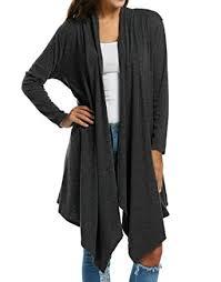 Draped Cardigan Sweater Zeagoo Women U0027s Long Sleeve Draped Open Front Solid Spring Cardigan