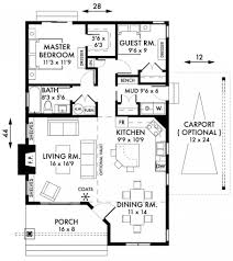 Floor Plans For Narrow Lots St George Cottage House Plan Plans By Garrell Associates Free