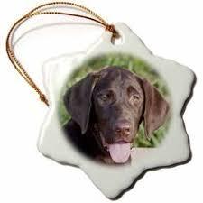 chocolate labrador retriever handpainted wood ornament