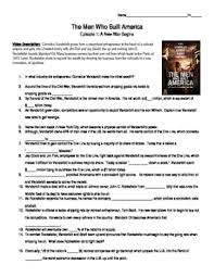 The Who Built America Worksheet The Who Built America Episode 1 A War Begins Guide