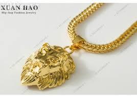 hip hop necklace pendants images 18k gold plate lion head pendant chain hip hop necklace for sale jpg