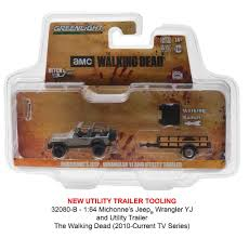 jeep utility trailer the walking dead michonne u0027s jeep wrangler and utility trailer 1 64