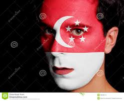 Flag Of Indonesia Image Flag Of Singapore Stock Photo Image Of Color Proud 36538772