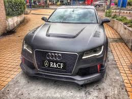audi rs7 front aliexpress com buy rs7 r bodykit abt style carbon fiber kit