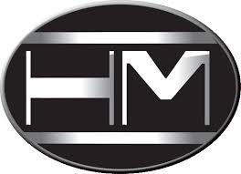 car logo black and white hamilton motors